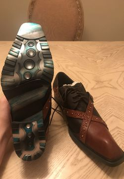 Aurelio Garcia Fiesso leather and suede shoes size 42 Thumbnail