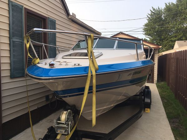 21 ft. 1987 searay seville cuddy cabin boat with mercruiser inboard/outboard