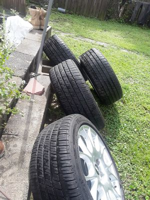 I am blessing these wheels in very good condition rims almost new rims 5x114 / 23540R18 bbs for Sale in Fort Belvoir, VA