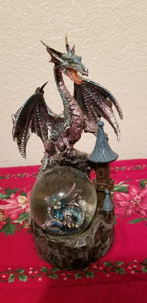 NEW !! Blue Dragon Protecting Her Baby Sculpture for Sale in Lacey, WA