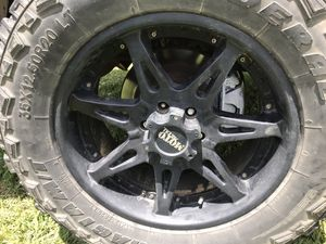 Photo Moto metal wheels 20 inch 35 inch tires