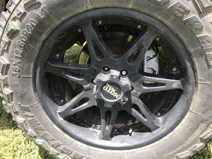 Photo Moto metal wheels 20 inch 35 inch tires