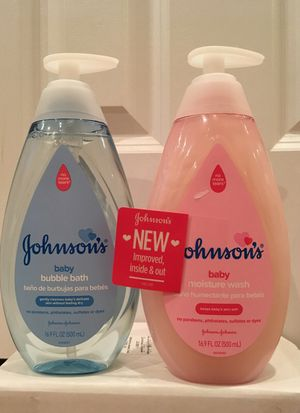 Johnson's baby bubble bath or moisture wash for Sale in Alexandria, VA