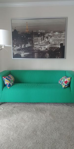Loveseat plus wall picture from ikea for Sale in Germantown, MD