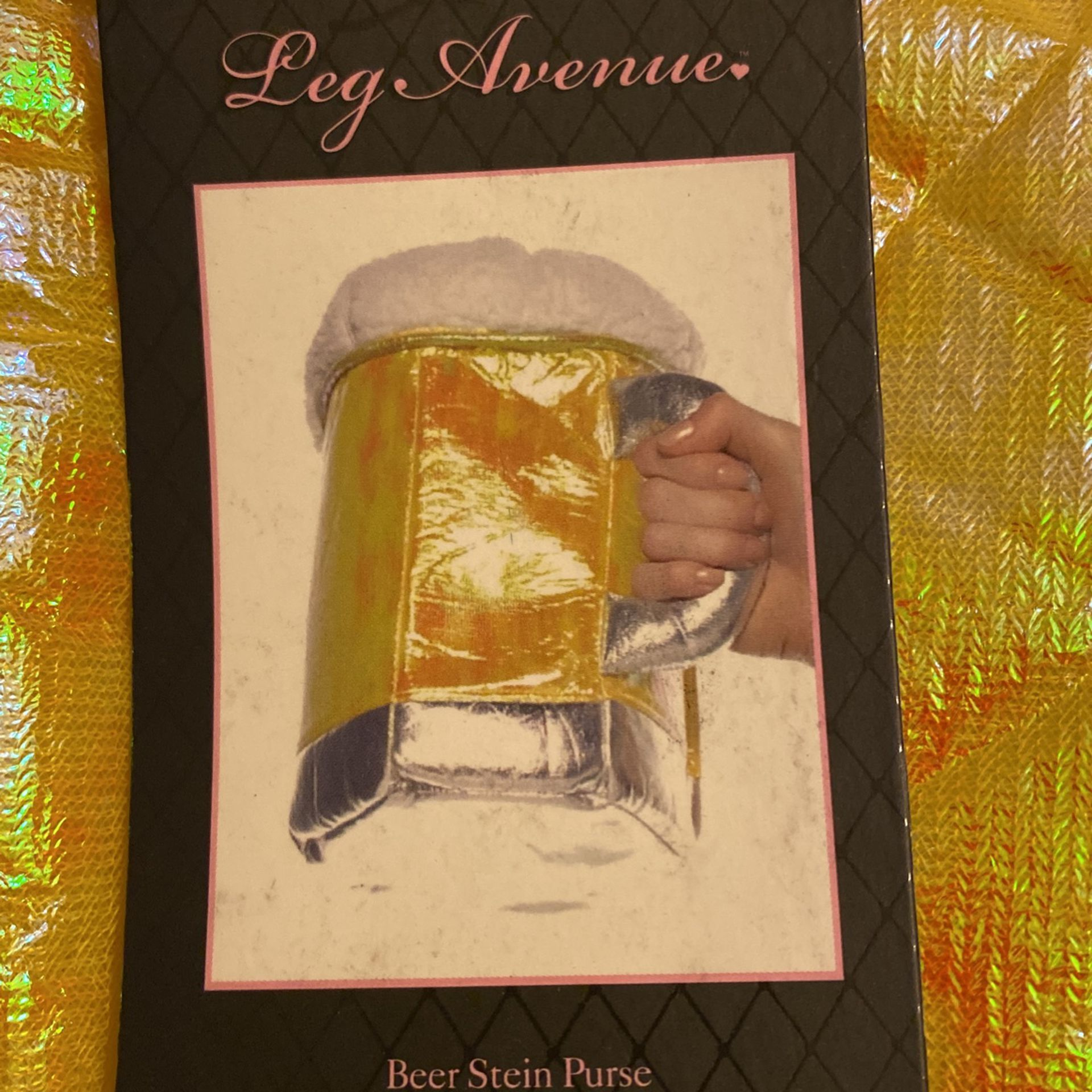 Leg Avenue Gretchen Sexy Beer Girl Costume W/ Beer Stein Purse Small