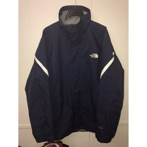 The North Face Jacket Shell sz L Navy Blue with White Stripes for Sale in Hyattsville, MD