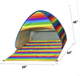 Pop up Camping or Beach Tents ready to use Thumbnail