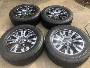 "Photo 20"" Nissan Titan XD wheels and tires"