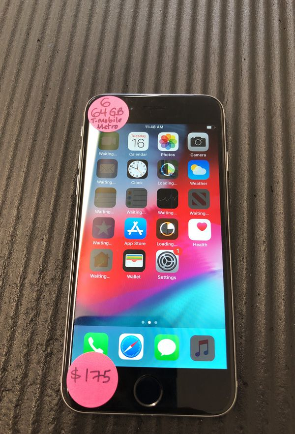 iPhone 6 64 GB T-mobile or Metro PCs Ready to use for Sale in Vista, CA -  OfferUp