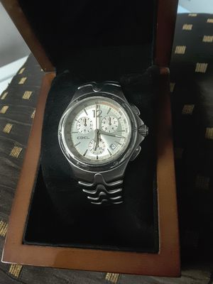 Photo EBEL Sportwave Swiss Chronograph White Dial Stainless Steel Mens Watch. Swiss Made. Excellent Condition.
