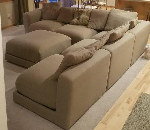 Large L Shape Sofa 10 3 X10 3 X42 And Ottoman 38 X38