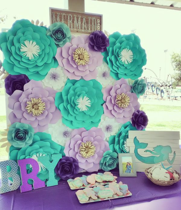 Mermaid paper flower backdrop for sale in bakersfield ca for Craft stores bakersfield ca