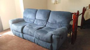Blue recliner couch for Sale in Midlothian, VA