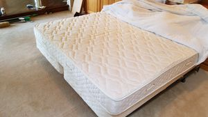 King size bed frame with box springs and mattress for Sale in Herndon, VA