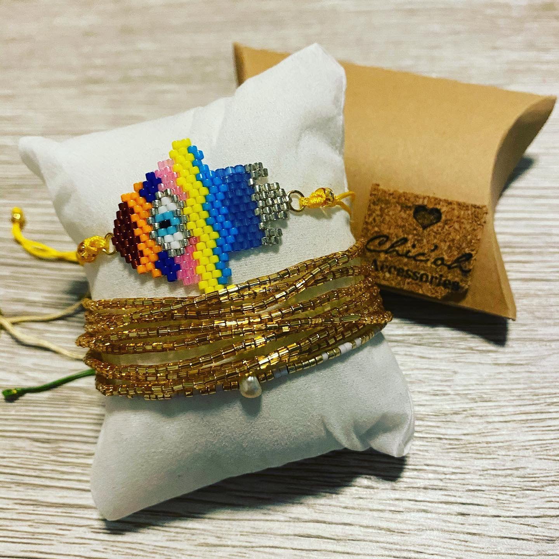 Set of Miyuki bracelet