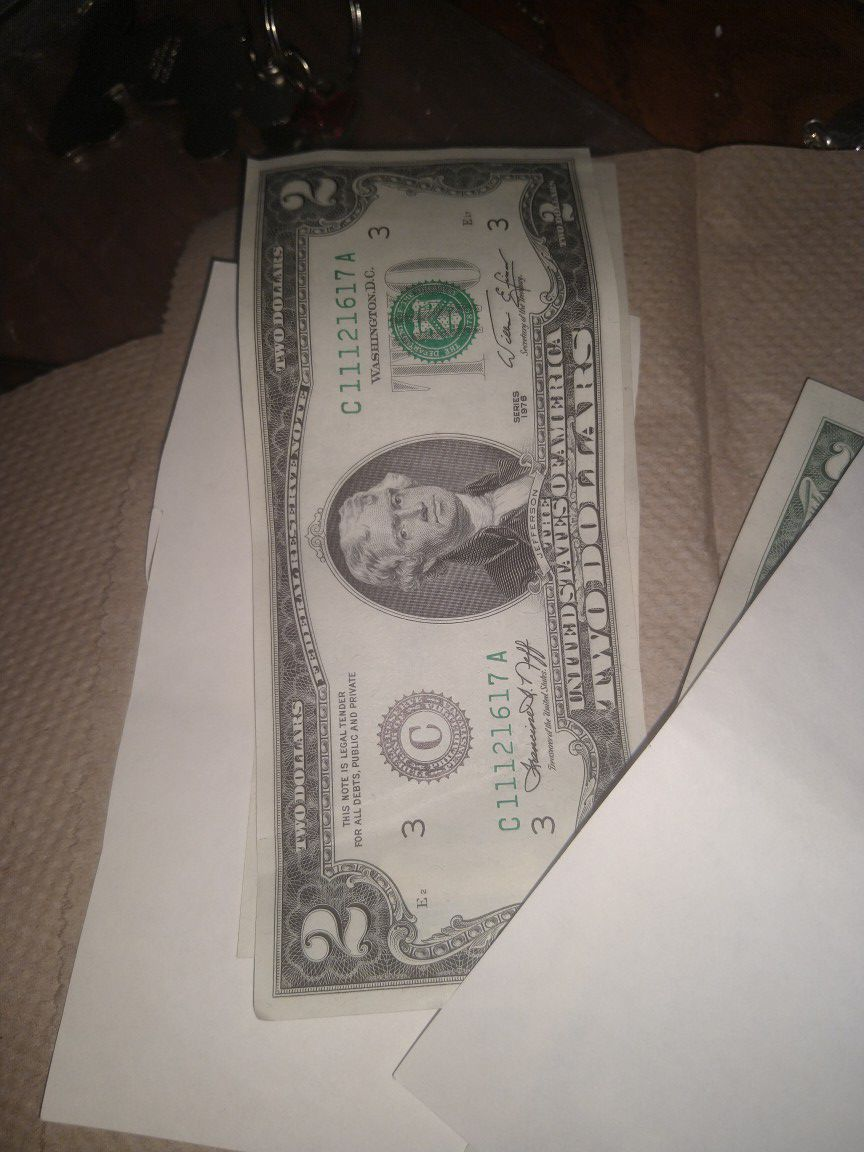 2 dollar note first of series