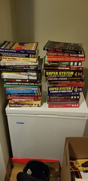 Lot of poker, blackjack, and other gambling books for Sale in Arlington, VA