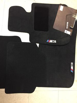 4 BMW New Car Floor Matts Logo Printed 100$ In Plastic Still✔️Rahway Nj 07065 for Sale in Woodbridge Township, NJ