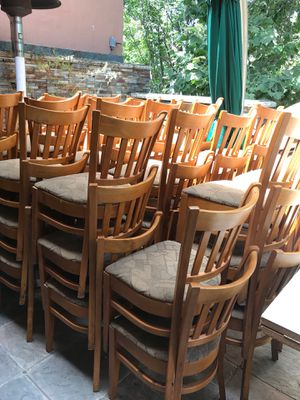 restaurant chairs maple great shape chairs tan upholstery for sale in sunnyvale ca - Restaurant Chairs For Sale