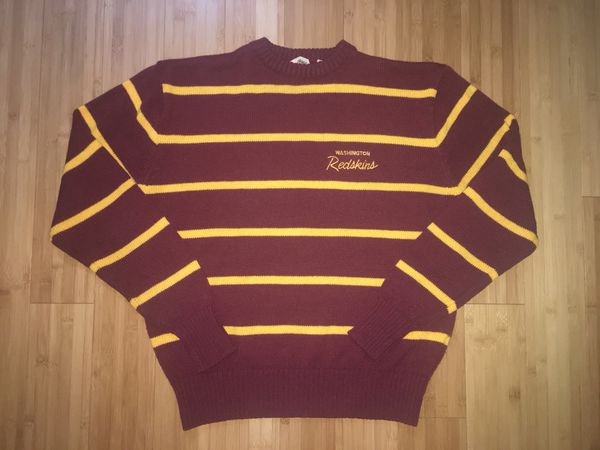 best sneakers 5bdc0 d7228 Logo 7 Brand vintage NFL Washington Redskins football striped knit sweater  for Sale in North Potomac, MD - OfferUp