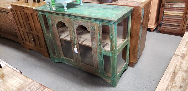 Distressed solid wood cabinet from India for Sale in Orlando, FL - OfferUp