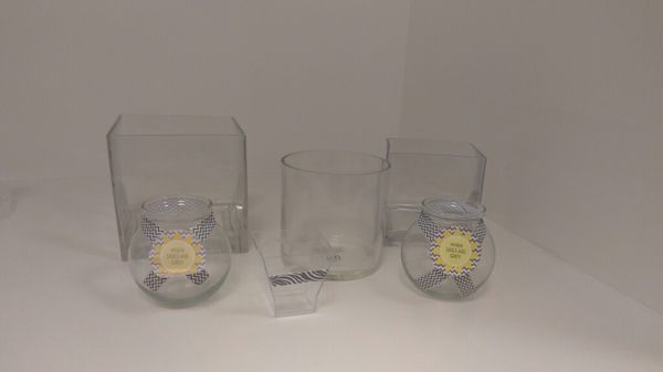 Enjoyable Vases For Flowers Or Candy Table Glass Containers For Sale Interior Design Ideas Grebswwsoteloinfo