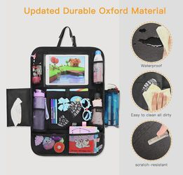 Messy Car? Roadtrip? High Quality Backseat Organizer for Kids! Less Stress for All!  Thumbnail