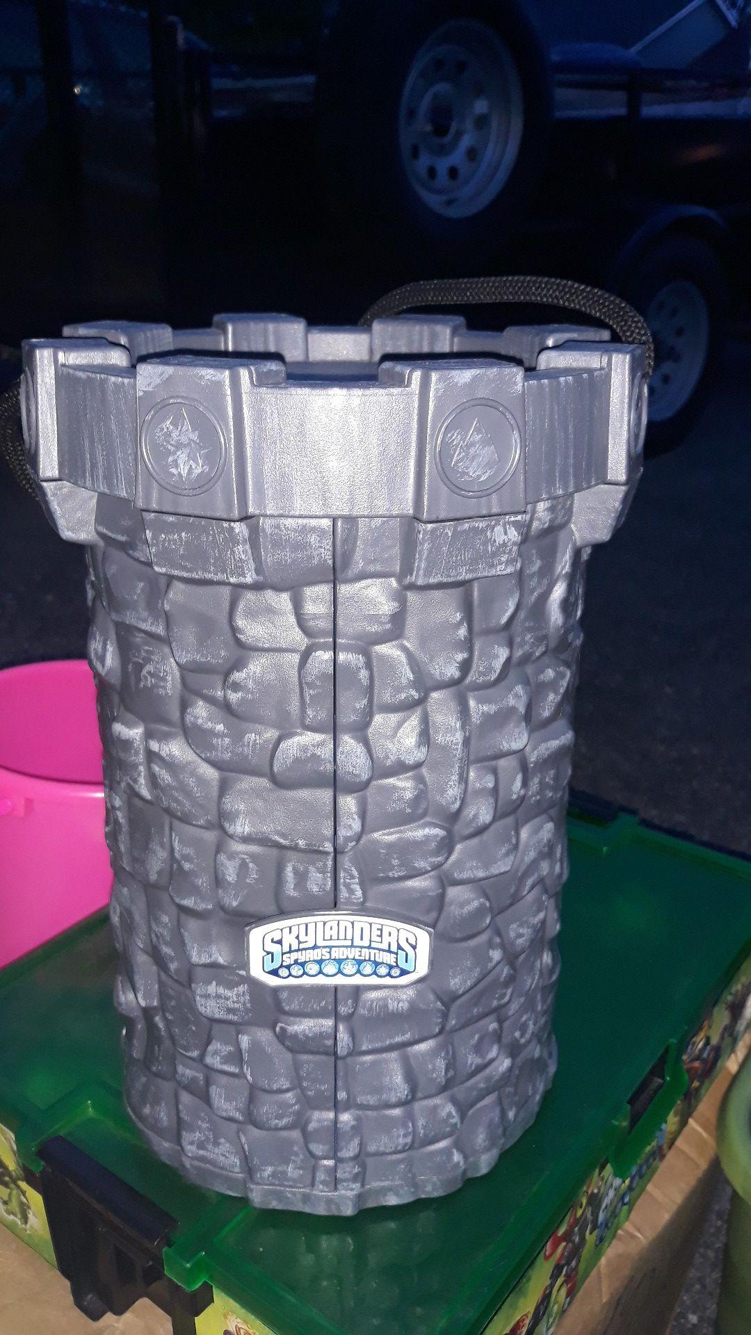 Skylanders castle plus 13 skylanders and storage $30