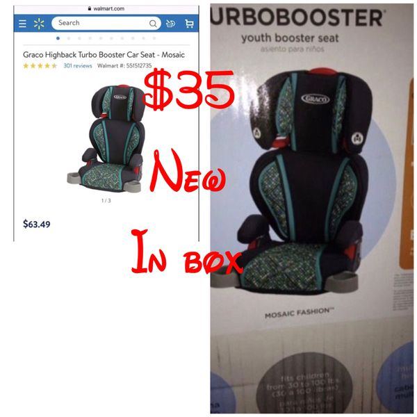 Graco Highback TurboBooster Car Seat Mosaic 1834909