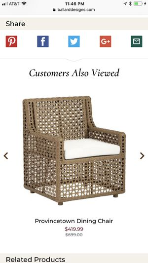 Two outdoor dinning chairs for Sale in Miami, FL