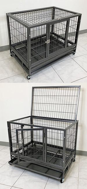 """Photo New $110 Heavy Duty 36x24x29"""" Large Dog Cage Pet Kennel Crate Playpen w/ Wheels for Large Pets"""