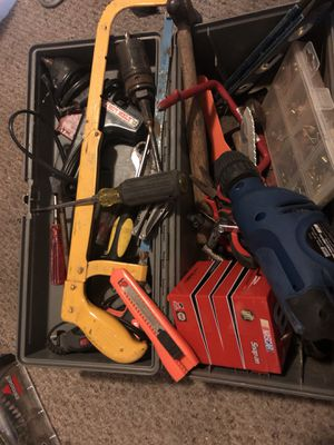 Toolbox full of misc tools 30$ for Sale in Tacoma, WA