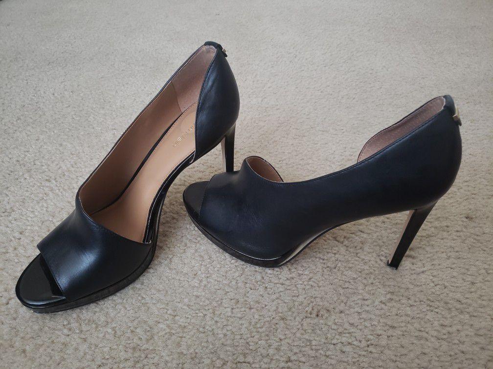 Calvin Klein black leather shoes