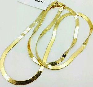 "Stunning 16"" 14K Yellow Italian Gold HERRINGBONE Chain for Sale in Rockville, MD"