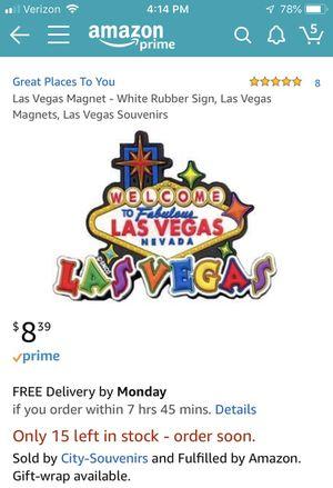 Las Vegas Souvenir magnet for Sale in McLean, VA