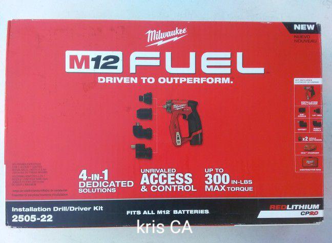 M12 Milwaukee Fuel Installation Drill Kit