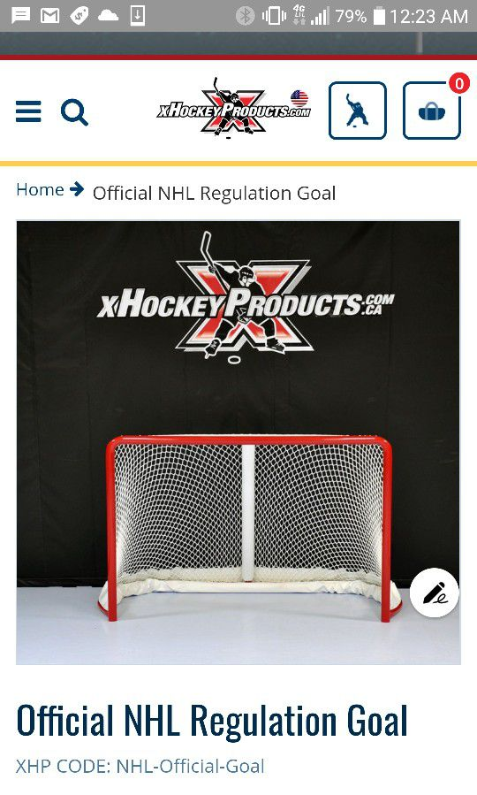 Official Size Hockey Net And Goalie Target For Sale In Saint Paul