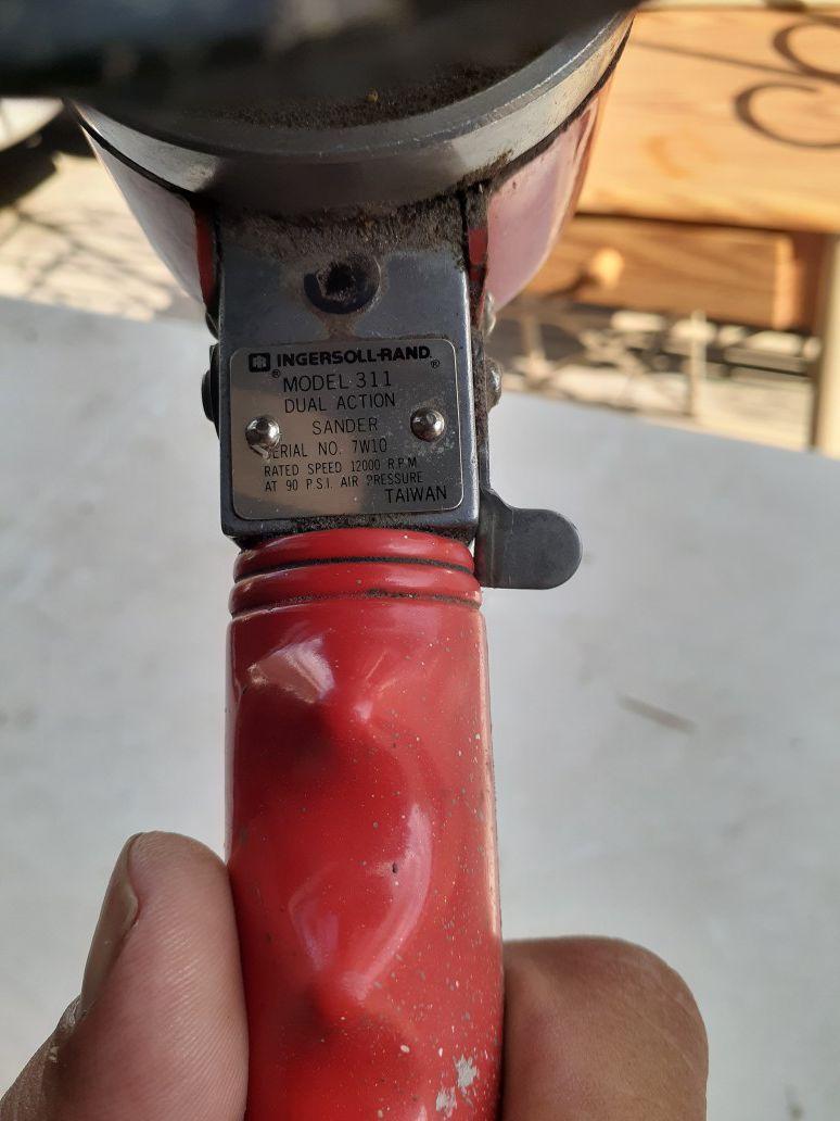 "Ingersoll Rand 6"" dual action sander"