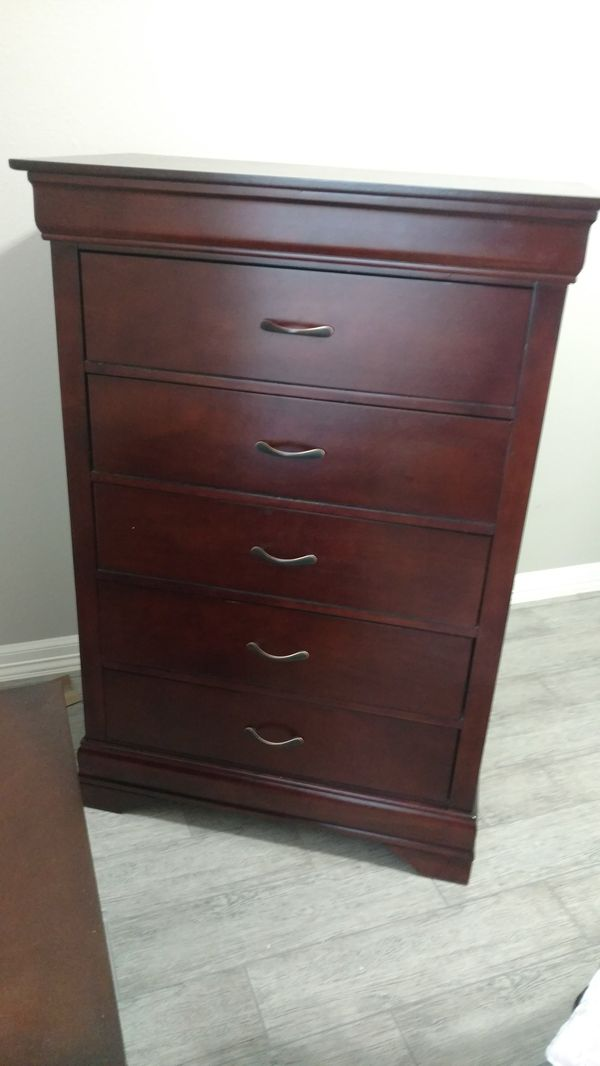 Beautiful cherry wood dresser and nightstand. For cheap!!! No