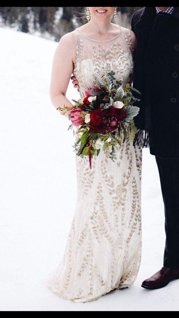 Jenny Packham Wedding Dress Hermia In Goldivory Bridal Size