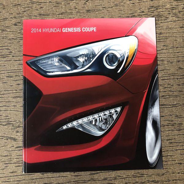 2014 Hyundai Genesis Coupe Dealer Brochure For Sale In