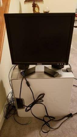 Dell Dimension E520 Desktop with 2 Monitors for Sale in Arlington, VA