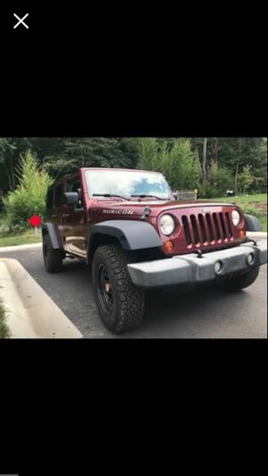 2007 Jeep Wrangler rubicon unlimited for Sale in Beltsville, MD