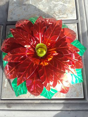 Poinsettia Candle Stick Christmas Decor for Sale in Glendale, AZ