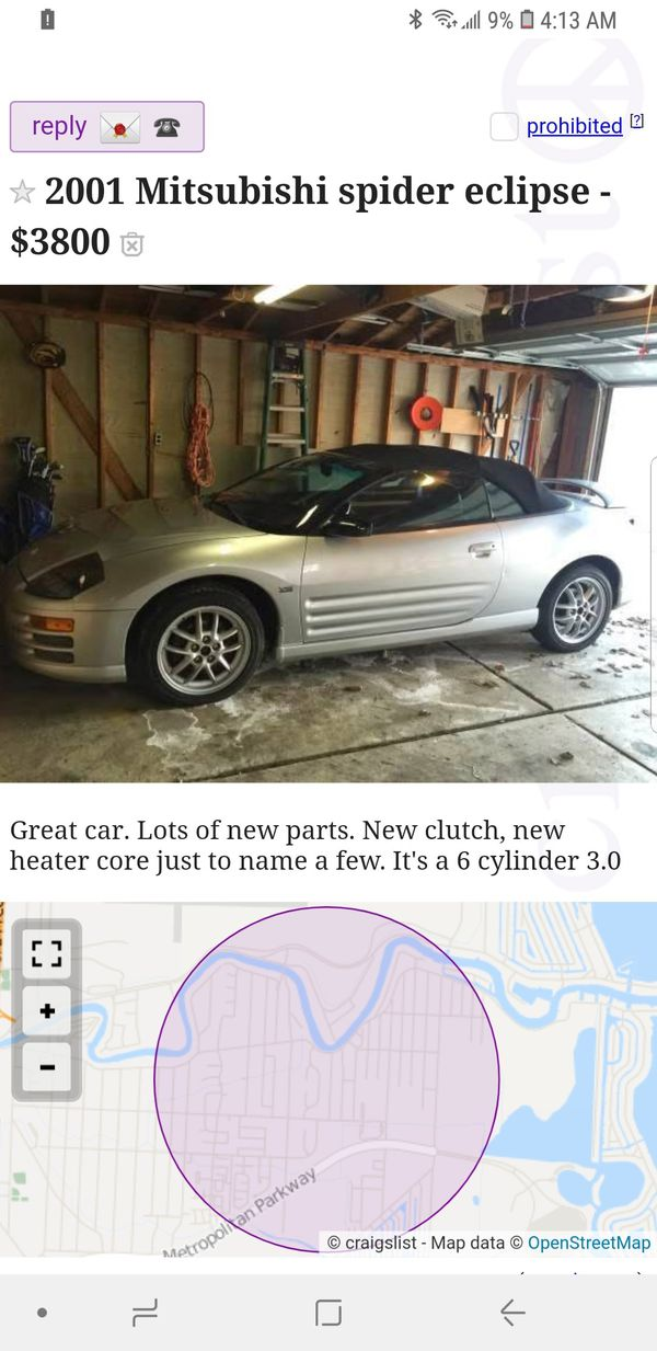 Mitsubishi eclipse spider for Sale in Harrison charter Township, MI -  OfferUp