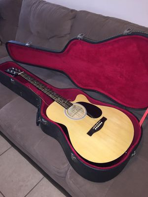 Guitar-fender acoustics with case for Sale in Orlando, FL