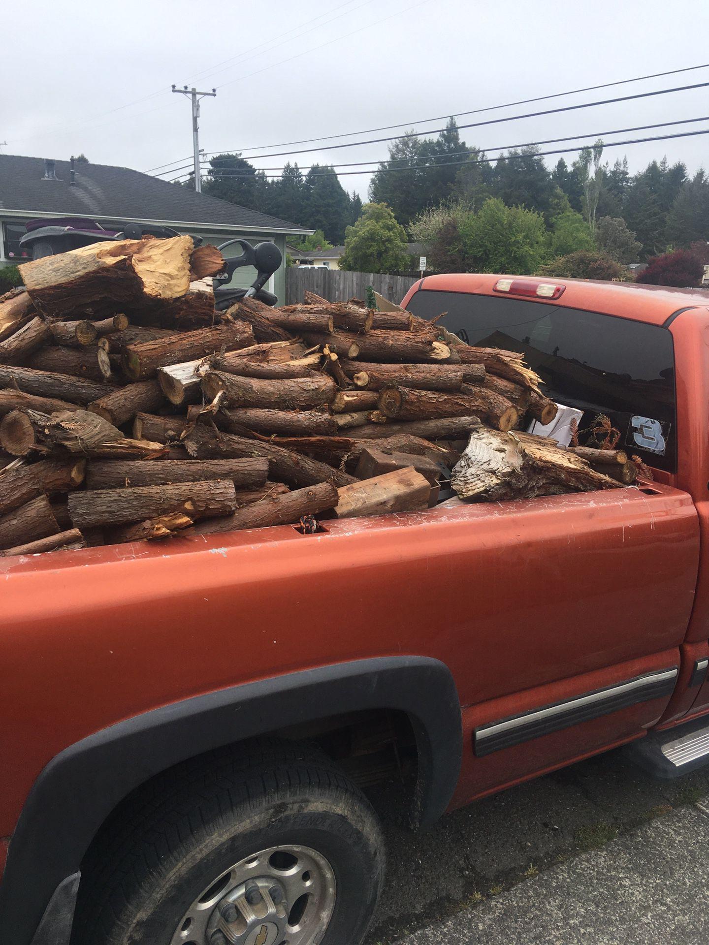 Seasoned Redwood Firewood