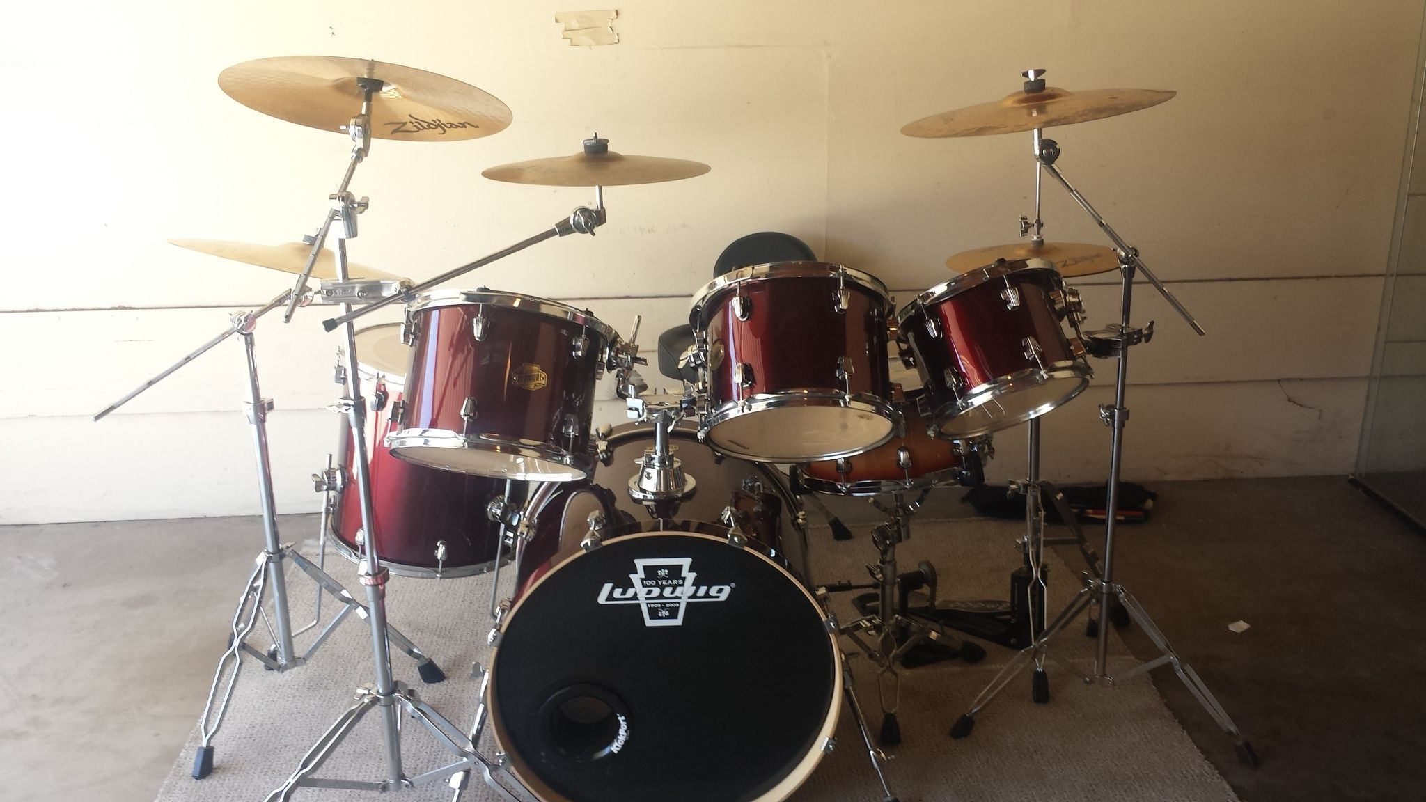 LUDWIG, COMPLETE KIT, I USED ONLY TWISE