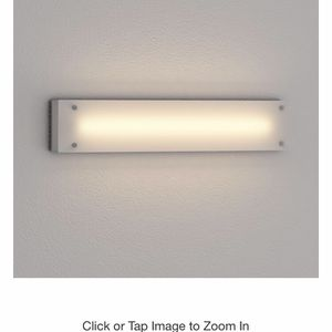 1-Light Brushed Nickel Fluorescent Bath Sconce with Etched Glass Shade for Sale in Longwood, FL