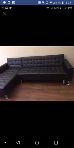 New In Box Black Futon Sectional Sofa For Austin Tx